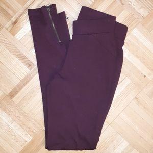 Burgandy leggings
